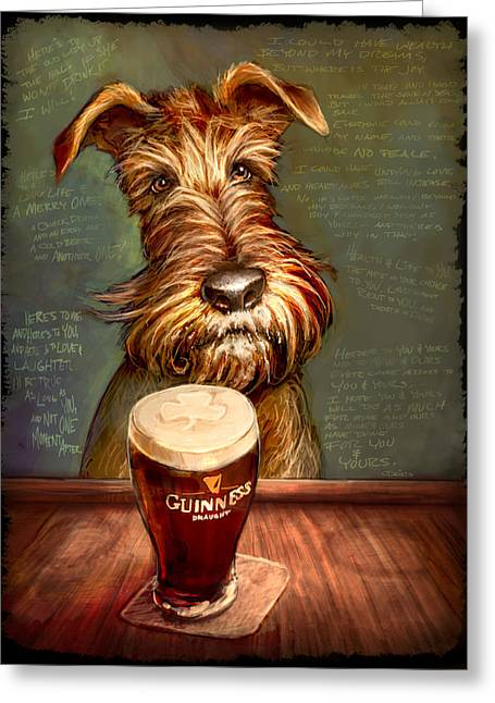 Drink Greeting Cards - Irish Stout Greeting Card by Sean ODaniels