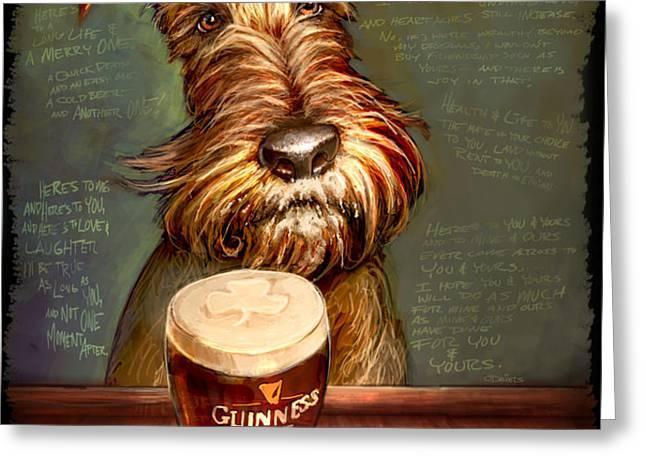 Irish Stout Greeting Card by Sean ODaniels