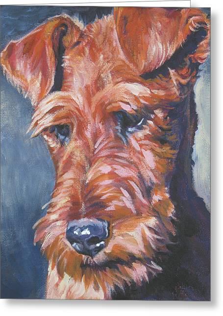 Irish terrier painting by lee ann shepard for Lee s painting