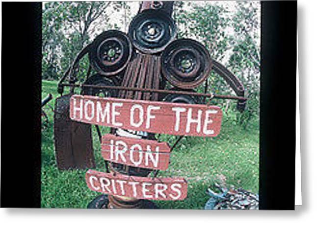 Best Sellers -  - Antique Ironwork Greeting Cards - Iron Critter Greeting Card by The Signs of the times Collection