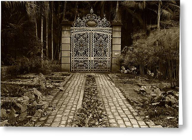 Gates Greeting Cards - Iron Gate Greeting Card by Amarildo Correa