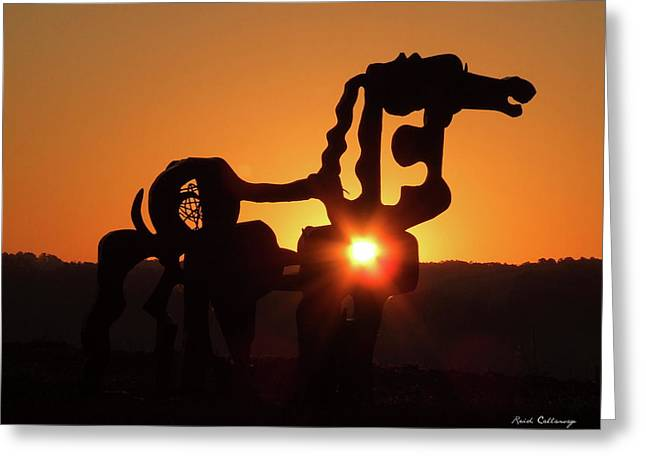 Iron Horse Heart Warming Greeting Card by Reid Callaway