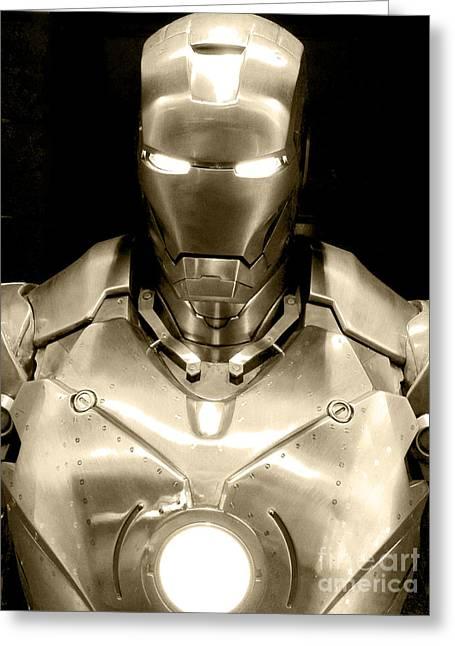 Iron Man 4 Greeting Card by Micah May