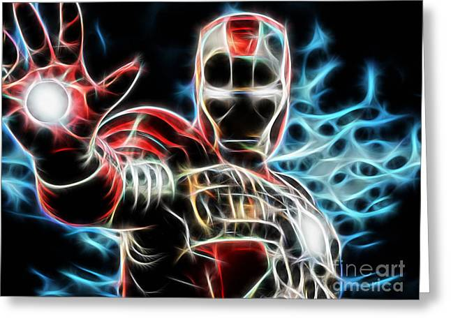 Iron Man Greeting Cards - Iron Man Collection Greeting Card by Marvin Blaine