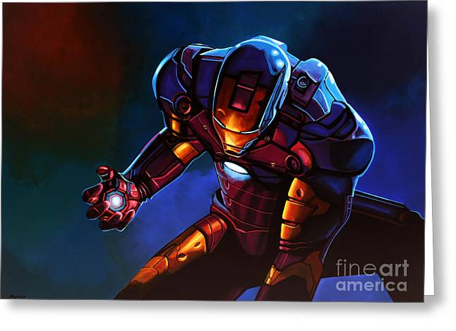 20th Greeting Cards - Iron Man Greeting Card by Paul  Meijering