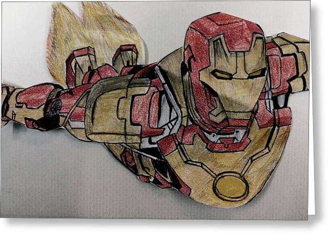 Iron Pastels Greeting Cards - Iron Man Greeting Card by Shubham Gupta