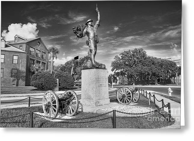 Scott Hansen Greeting Cards - Iron Mke Statue - Parris Island Greeting Card by Scott Hansen