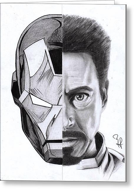 Iron Stark Greeting Card by Yf Jarosova