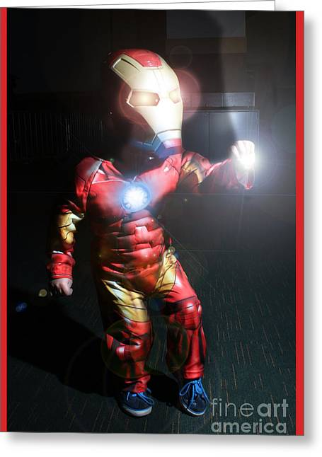 Ironman Greeting Cards - Ironkid  Greeting Card by David Doyle