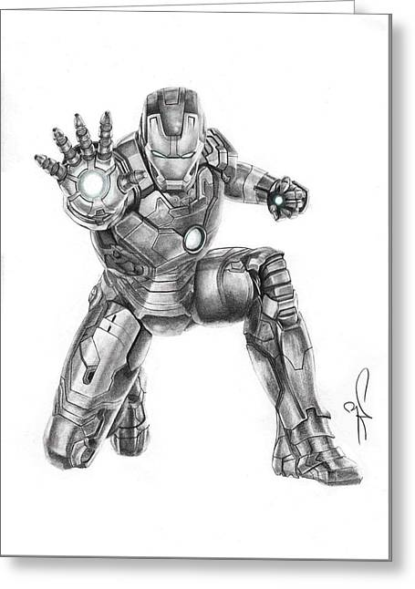 Ironman Greeting Card by Artistyf