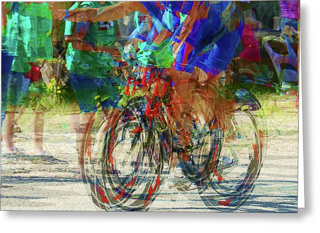 Ironman bicyclist 2109 Greeting Card by David Mosby