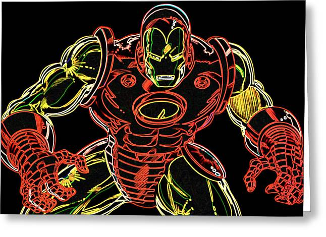 Iron Greeting Cards - Ironman Greeting Card by DB Artist