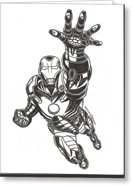 Ironman Greeting Card by MoryDeCrazy