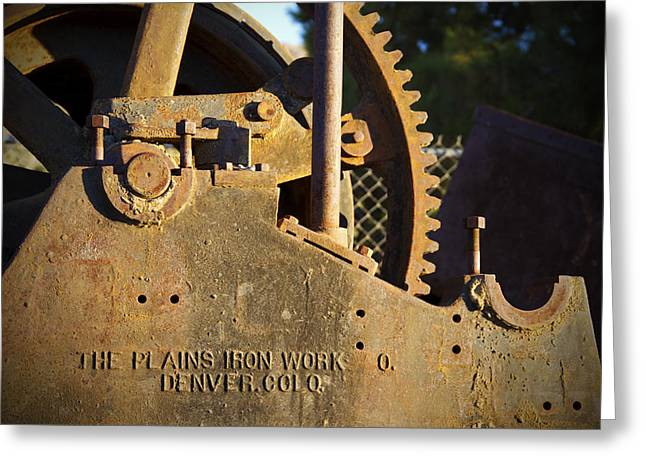 Mike Hill Greeting Cards - Ironworks Greeting Card by Mike Hill