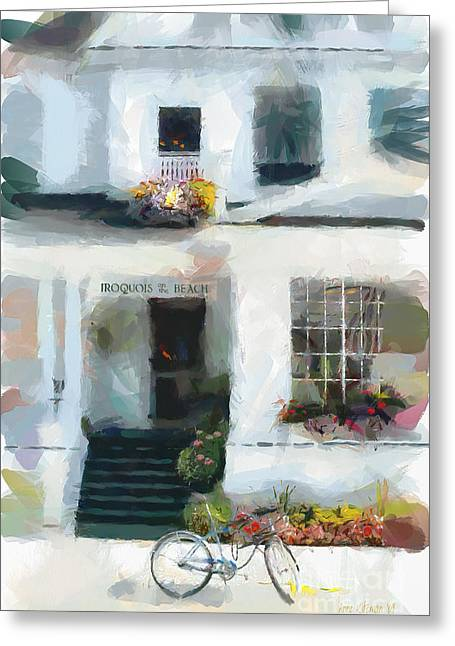 Recently Sold -  - Entrance Door Greeting Cards - Iroquois on the Beach - Mackinac Island Michigan Greeting Card by Anne Kitzman