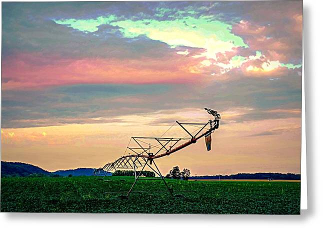 Irrigation Greeting Card by Doug Wallick