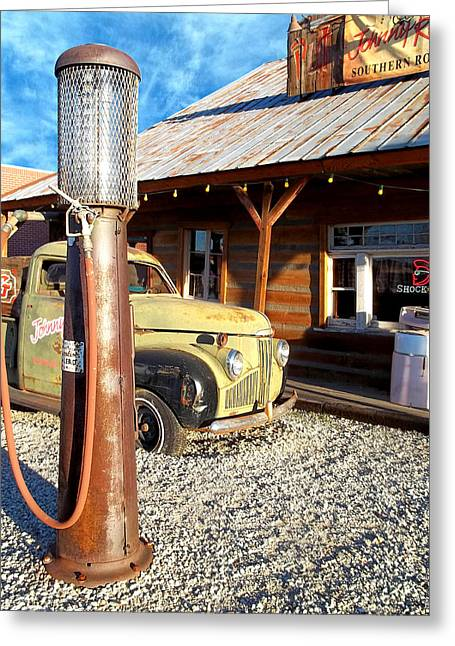 Is That You - Route 66 California Greeting Card by Glenn McCarthy Art and Photography