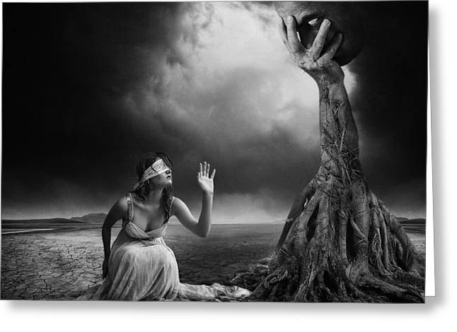 Tree Roots Greeting Cards - Is There Anybody Out There? Greeting Card by Erik Brede