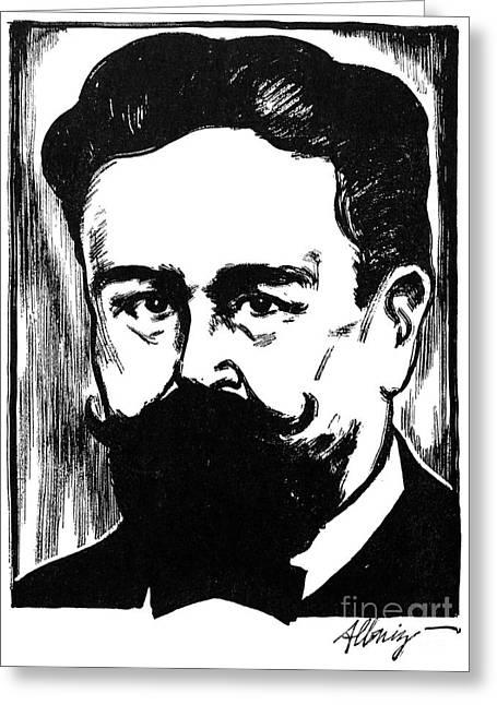 Samuel Greeting Cards - Isaac Albeniz (1860-1909) Greeting Card by Granger