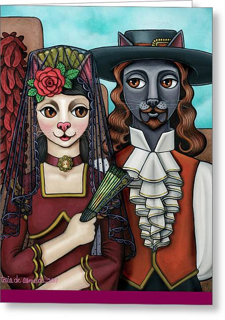 Spanish Dancer Greeting Cards - Isabel Y Tomas Greeting Card by Victoria De Almeida