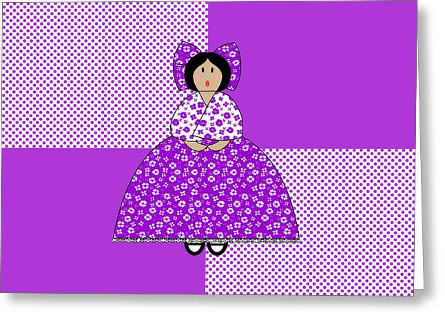 Quilt Blocks Greeting Cards - Isabelle Greeting Card by Methune Hively
