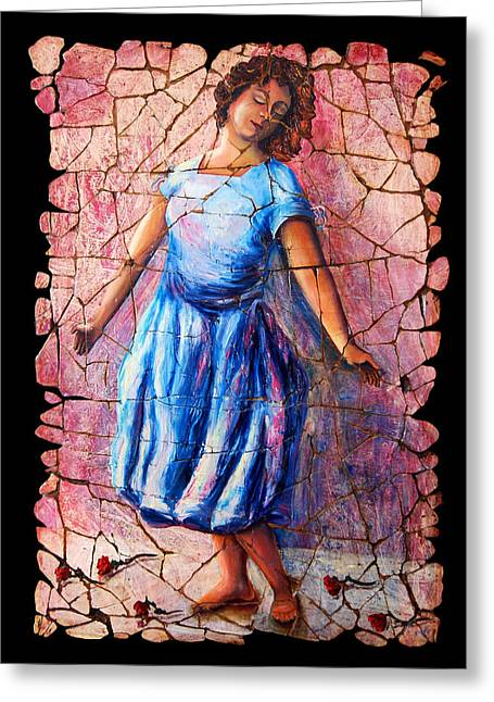 Training Mixed Media Greeting Cards - Isadora Duncan - 2 Greeting Card by OLena Art