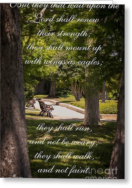 Isaiah 40 Vs 31 Greeting Card by Mechala  Matthews