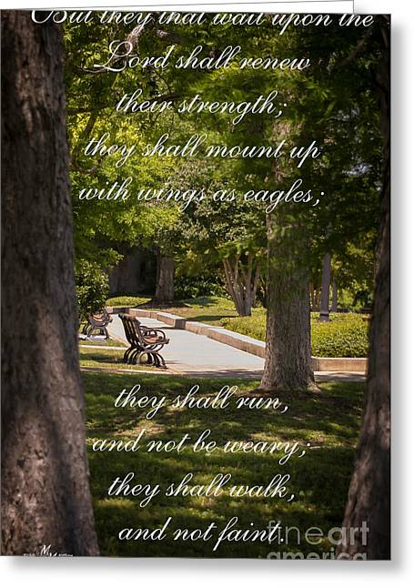 Book Of Isaiah Greeting Cards - Isaiah 40 vs 31 Greeting Card by Mechala  Matthews