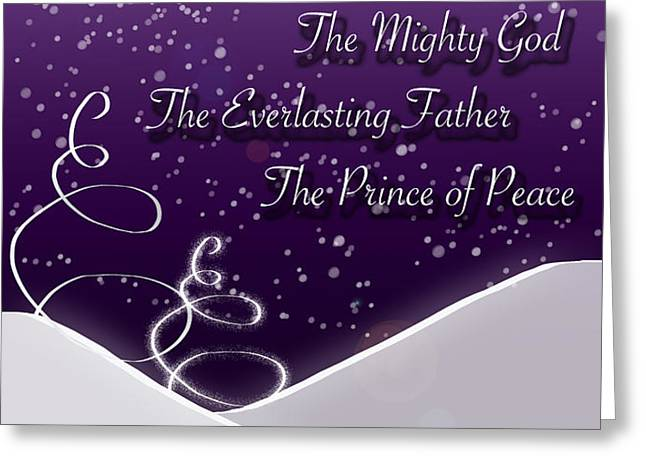 Isaiah Chapter 9 Verse 6 Christmas Card Greeting Card by Lisa Knechtel