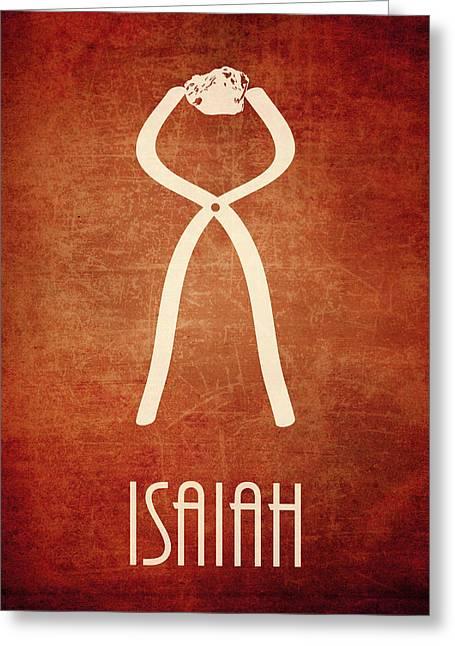 Isaiah Digital Greeting Cards - Isaiah Icon Bible Minimal Art Greeting Card by Brett Pfister