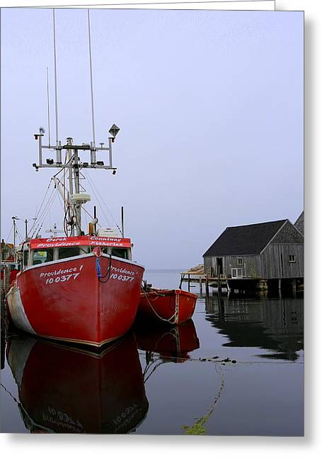 Fishing Boat, Peggy's Cove Greeting Card by Imagery-at- Work