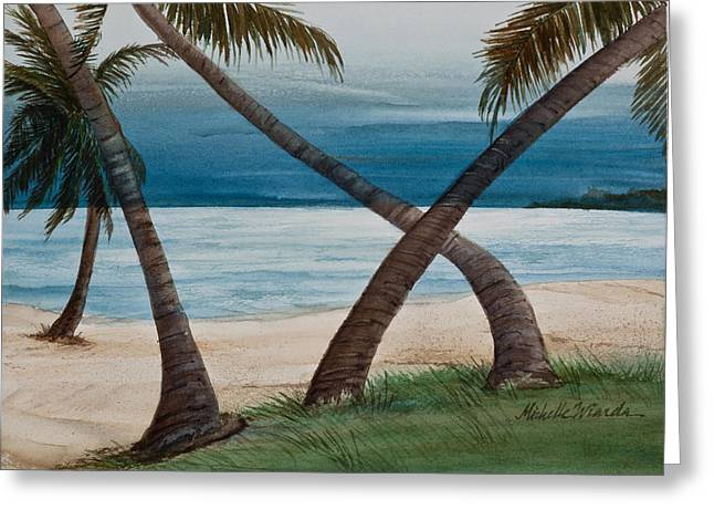 Thunderstorm Greeting Cards - Islamorada Thunderstorm Watercolor Greeting Card by Michelle Wiarda