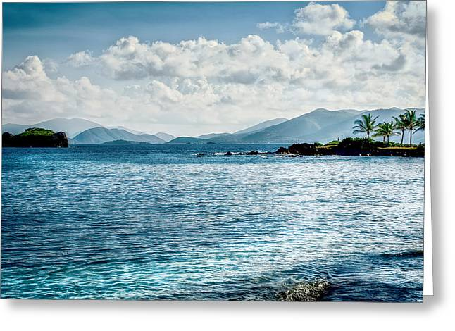 Charlotte Amalie Greeting Cards - Island Blues Greeting Card by Camille Lopez