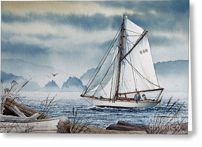 Tall Ship Canvas Greeting Cards - Island Dreams Greeting Card by James Williamson