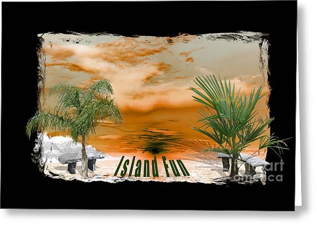 Apparel Greeting Cards - Island Fun Impressions Greeting Card by Elmar Langle