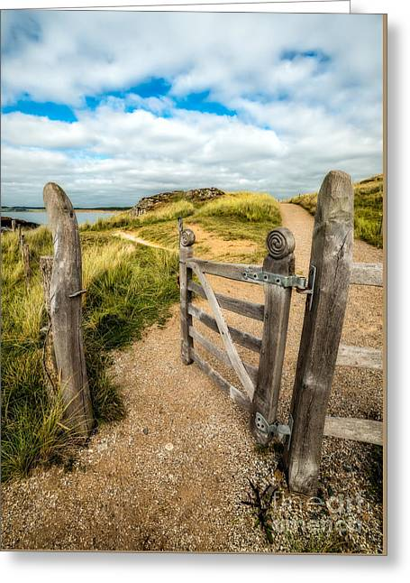 Hinges Greeting Cards - Island Gate Greeting Card by Adrian Evans