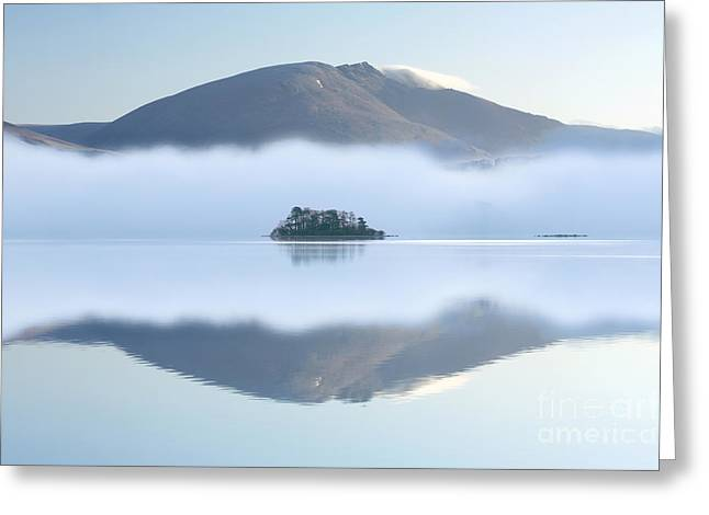 Transient Greeting Cards - Island in The Mist Greeting Card by John Potter