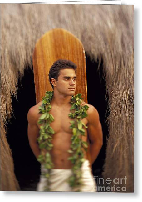 Surfing Photos Greeting Cards - Island Man Greeting Card by Dana Edmunds - Printscapes