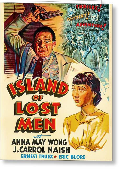 1939 Movies Greeting Cards - Island Of Lost Men 1939 Greeting Card by Mountain Dreams