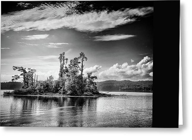 Tennessee River Greeting Cards - Island on the Tennessee Greeting Card by Liz Keeler