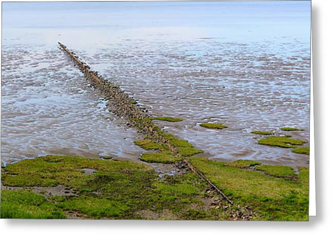 Wadden Sea Greeting Cards - Island Sylt - Mudflat Greeting Card by Marc Huebner