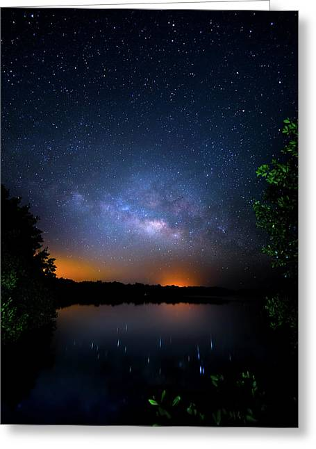 Island Universe Greeting Card by Mark Andrew Thomas