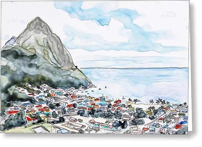Island View Greeting Card by Shaina Stinard