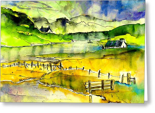Lake House Drawings Greeting Cards - Isle Of Lewis 01 Greeting Card by Miki De Goodaboom