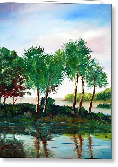 Isle Of Palms Greeting Card by Phil Burton