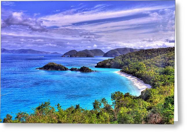 Snorkel Greeting Cards - Isle of Sands Greeting Card by Scott Mahon