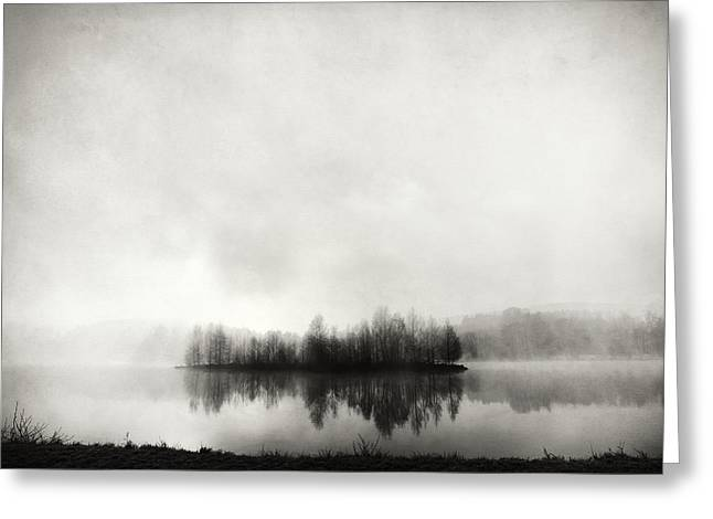 Morning Mist Greeting Cards - Isle Of Silence Greeting Card by Franz Bogner