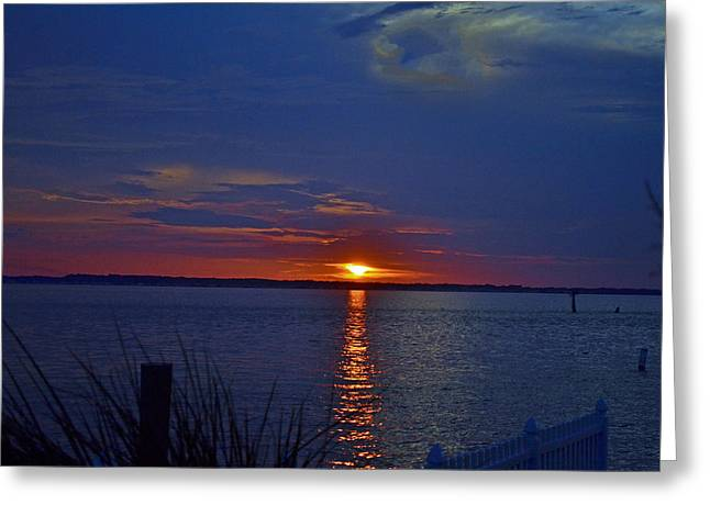 My Ocean Greeting Cards - Isle of Wight Sunset 2 Greeting Card by Michael Hills