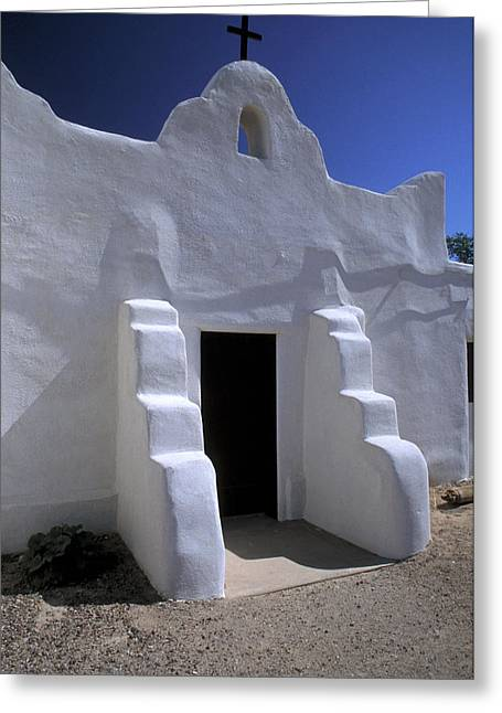 Adobe Greeting Cards - Isleta Greeting Card by Jerry McElroy