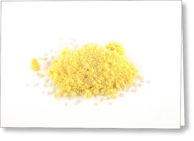 Powder Greeting Cards - Isolated Aromasalt Greeting Card by Daniel Ronneberg